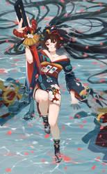 Onmyoji fan art- yoto hime by RuuE03