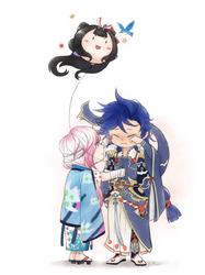 Onmyoji fan art- Susabi + Ichimoku Ren by RuuE03