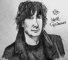 Neil Gaiman by ajcrwl