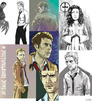 Constantine doodles by ajcrwl