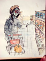 Inktober 2016 Hungry shopping by ajcrwl