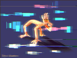 Glitchy hands by ajcrwl