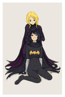 DC- Cassandra Cain and Stephanie Brown by Peony-Dreams