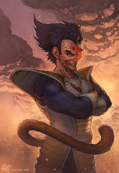 VEGETA, PRINCE OF THE SAIYAN - 10 YEARS LATER by Giye