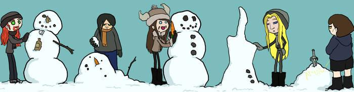 Snowmen building by ftw302