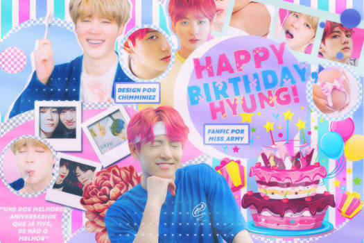 Capa para fanfic: Happy Birthday, hyung! (JIKOOK) by vanessakelle