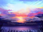 Clouds23 Speedpaint by z0mbiekid