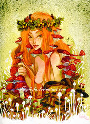 The Mushroom Fairy by Nephyla