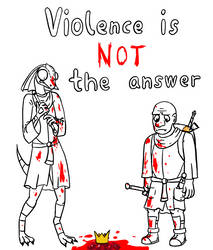 COM: violence ain't the answer yo by shook12