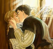 Commission for taiyakineko - Beka and Farmer Kiss by Minuiko