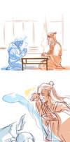 Korra: sketch dump 5 by Minuiko
