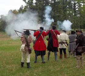 Militia Firing by WestytheTraveler