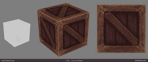 Hand Painted Crate by Devin-Busha