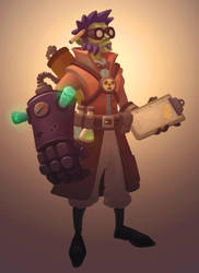 Radioactive Science Hero by Devin-Busha