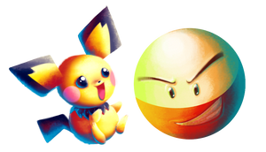 Collab: Electrode and Pichu by goldfishkang