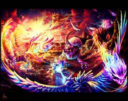 Elemental Showdown by goldfishkang