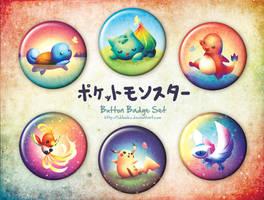 Pokemon Button Badges by goldfishkang