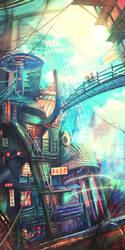 Technicolour City by goldfishkang
