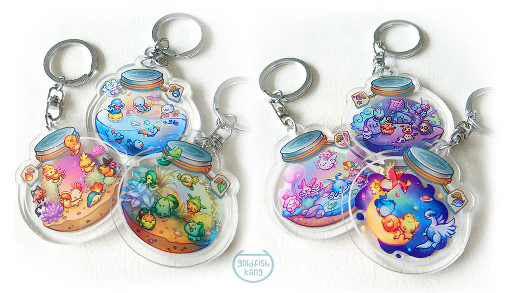 Pokemon Terrarium Charms: Preorder by goldfishkang
