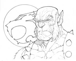 Panthro Head Sketch by mikebowden