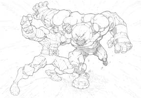 Colossus VS Juggernaut by mikebowden