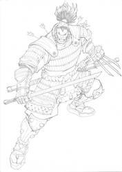 Samurai Wolverine by mikebowden