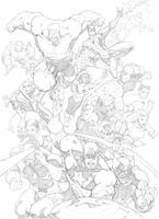 Secret Wars Cover Recreation by mikebowden