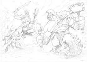 Thor Ragnarok by mikebowden