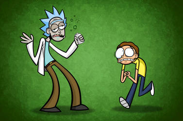 Rick and Morty by InterstellarLizard