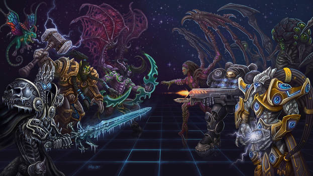 Warcraft Vs Starcraft by JoeDomani