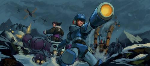 Mega Man and Tron by Dash-X