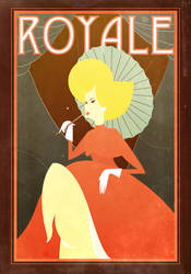 retro French poster by Pixelflakes