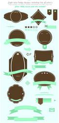 vector retro badge set by Pixelflakes