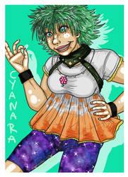 Cyanara the Cyan by Yorulla
