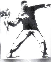 Banksy Stencil by almost5519
