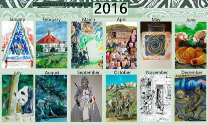 2016 art summary by DagronRat