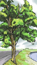 Tree sketch by DagronRat