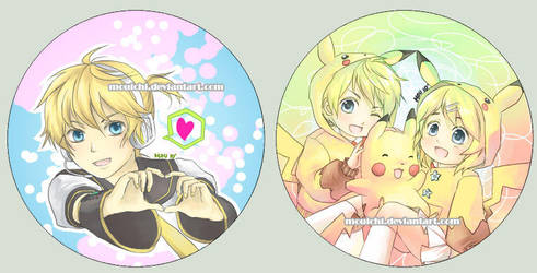 -UPDATED- Kagamine Buttons by Mouichi
