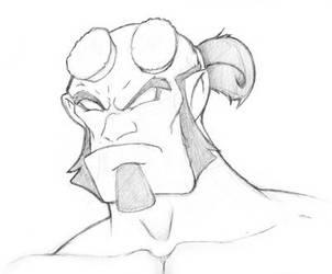 Hellboy by NubianKitten