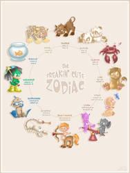 Freakin' Cute Zodiac by NubianKitten