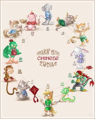 Freakin' Cute Chinese Zodiac by NubianKitten
