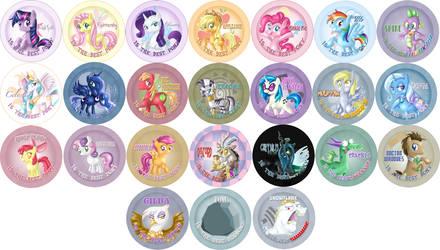 Best Pony Buttons set 1 by NubianKitten