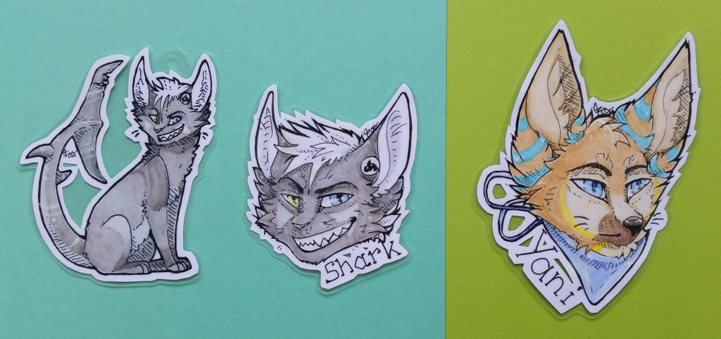 Shark and Yani   Badges by Foxface-x3