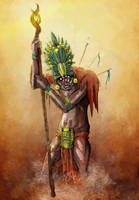 Aztec Priest by AzadX