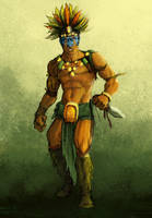 Aztec Warrior by AzadX