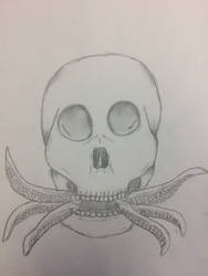 Tentacle skull by paigesugarbutts