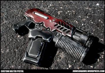 Warhammer 40k Inspired Bolter Pistol by JohnsonArmsProps