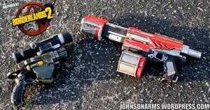 Borderlands 2 Themed Nerf Guns by JohnsonArmsProps