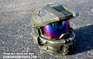 Master Chief Helmet - Mark VI version by JohnsonArmsProps