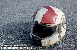 Halo 4 Infantry Marine Helmet Complete by JohnsonArmsProps